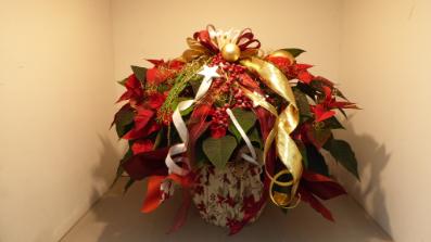 Weihnachtsstern XXL dekoriert