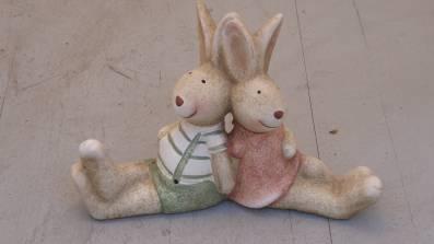 Hasenpaar sitzend